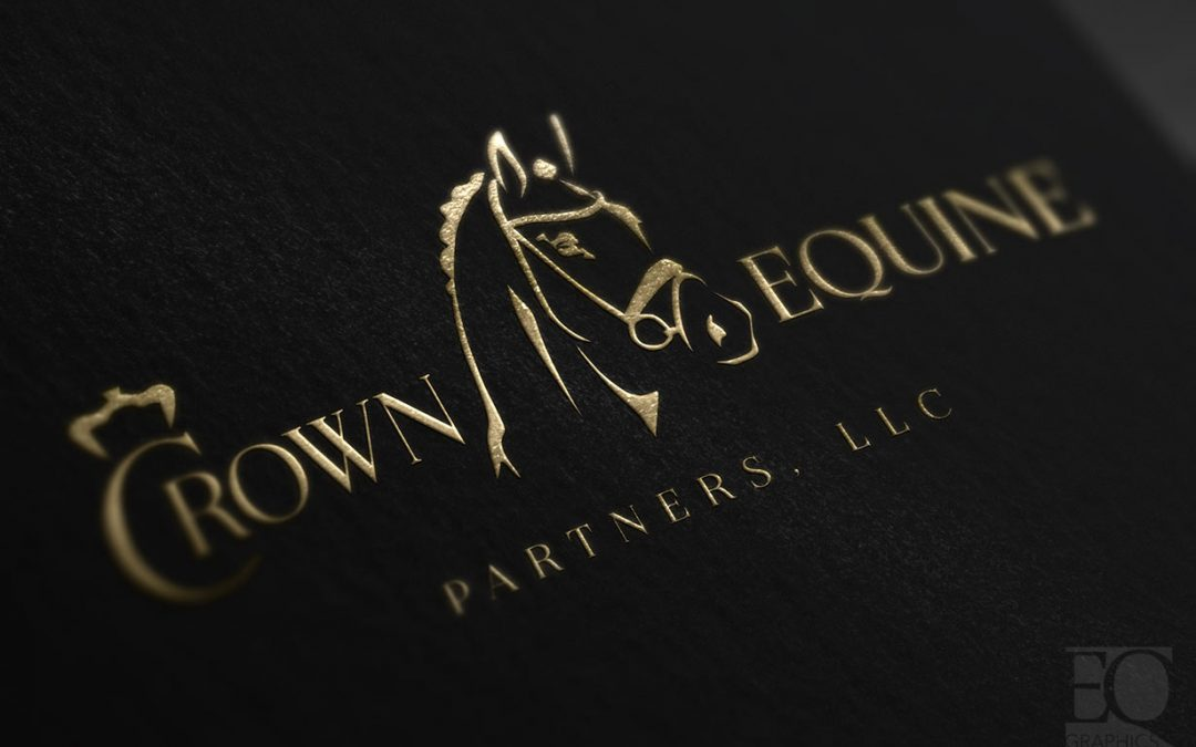 Crown Equine Partners Dressage Horse Sales Wellington Florida Logo Design by EQ Graphics