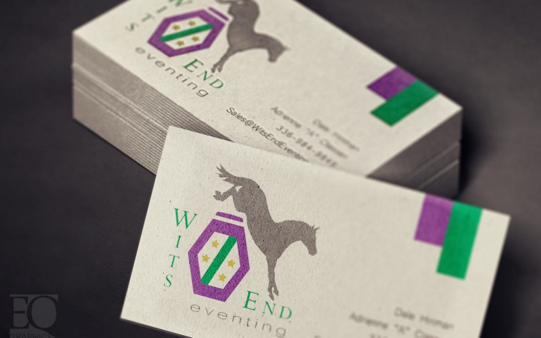 Wits End Eventing Logo Design and Warmblood Brand by EQ Graphics Horse Logos