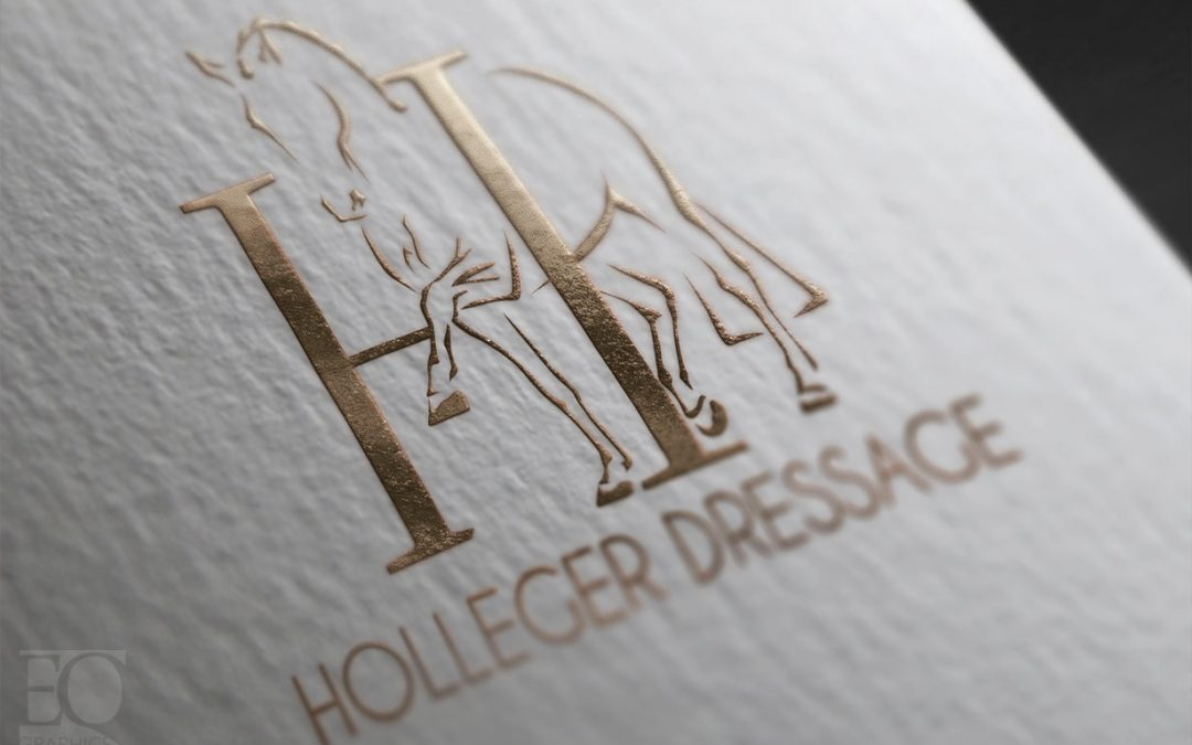 Holleger Dressage Training Logo by EQ Graphics for Champion Young Rider Lindsey Holleger
