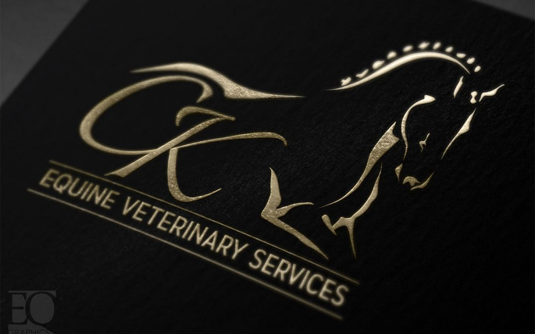 CK Equine Veterinary Services Logo Wellington FL Florida Veterinarian Logo Design by EQ Graphics