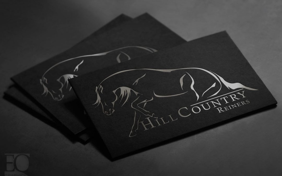 Hill Country Reiners Reining Horse Sliding Stop Logo by EQ Graphics Logos