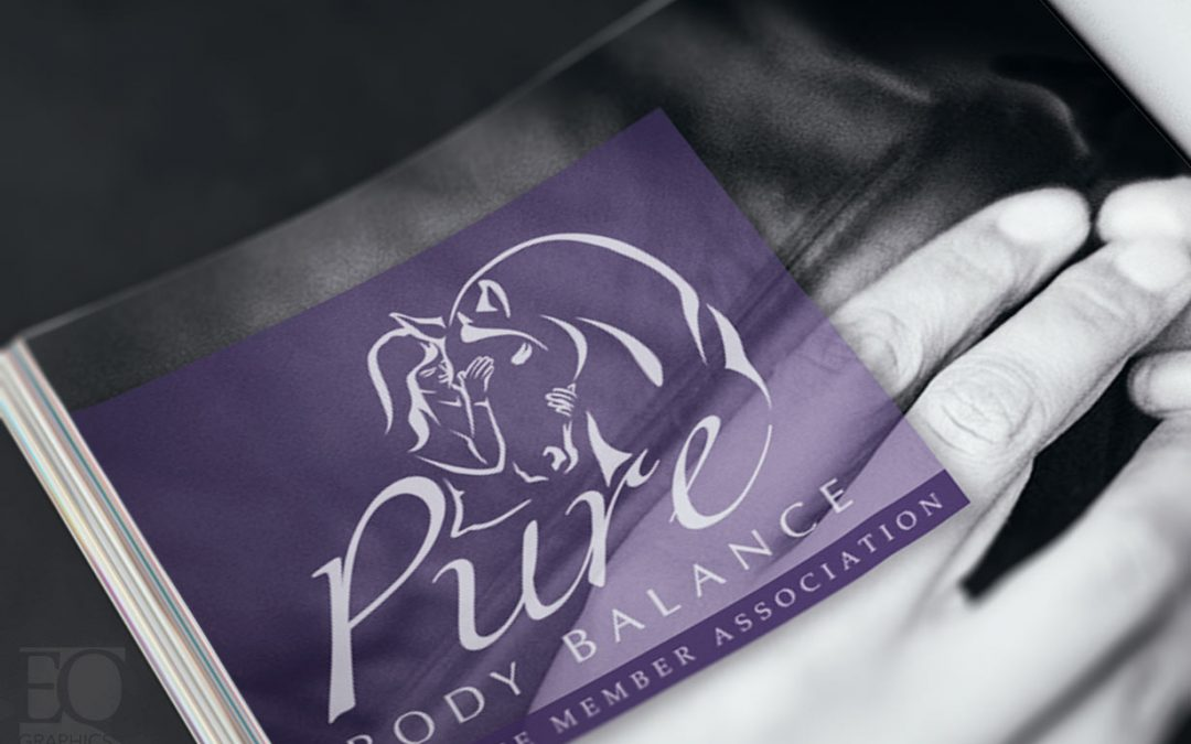 Pure Body Balance Horse Massage Therapist Logo by EQ Graphics Equine Therapy Logos