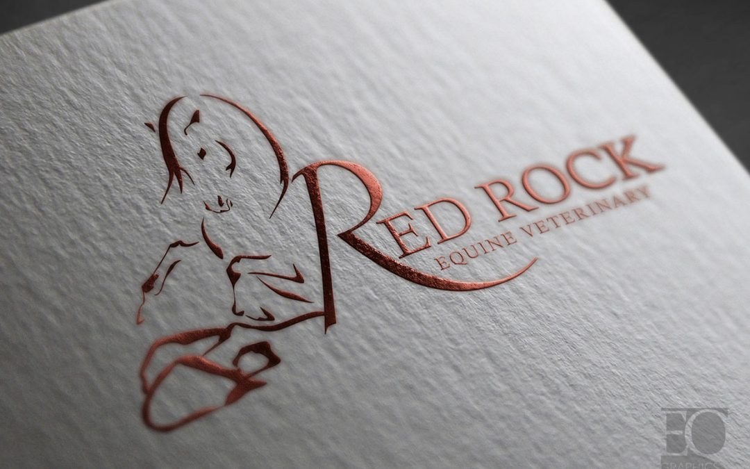 Red Rock Equine Veterinarian Logo Design by EQ Graphics Large Animal Logos