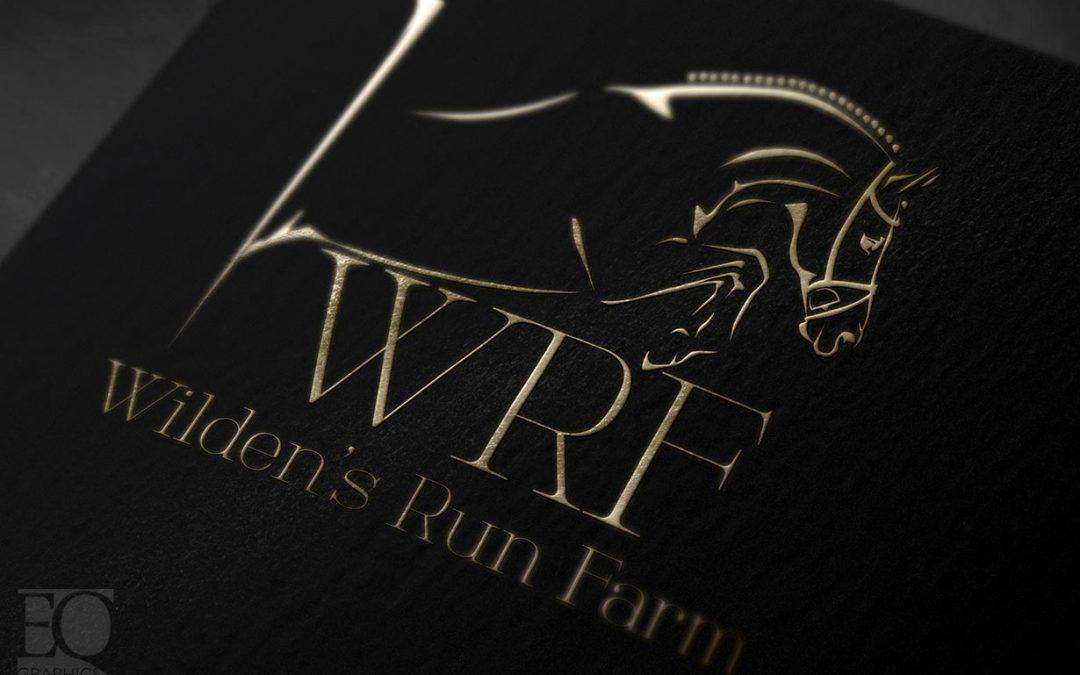 Wilden's Run Farm Hunter Jumper Show Jumping Logo by EQ Graphics Horse Logos
