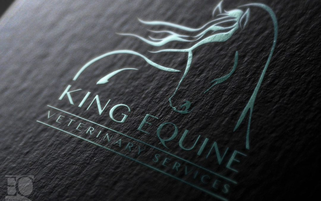 King Equine Veterinary Services Canada Horse Logo by EQ Graphics Canadian Veterinarian Logos