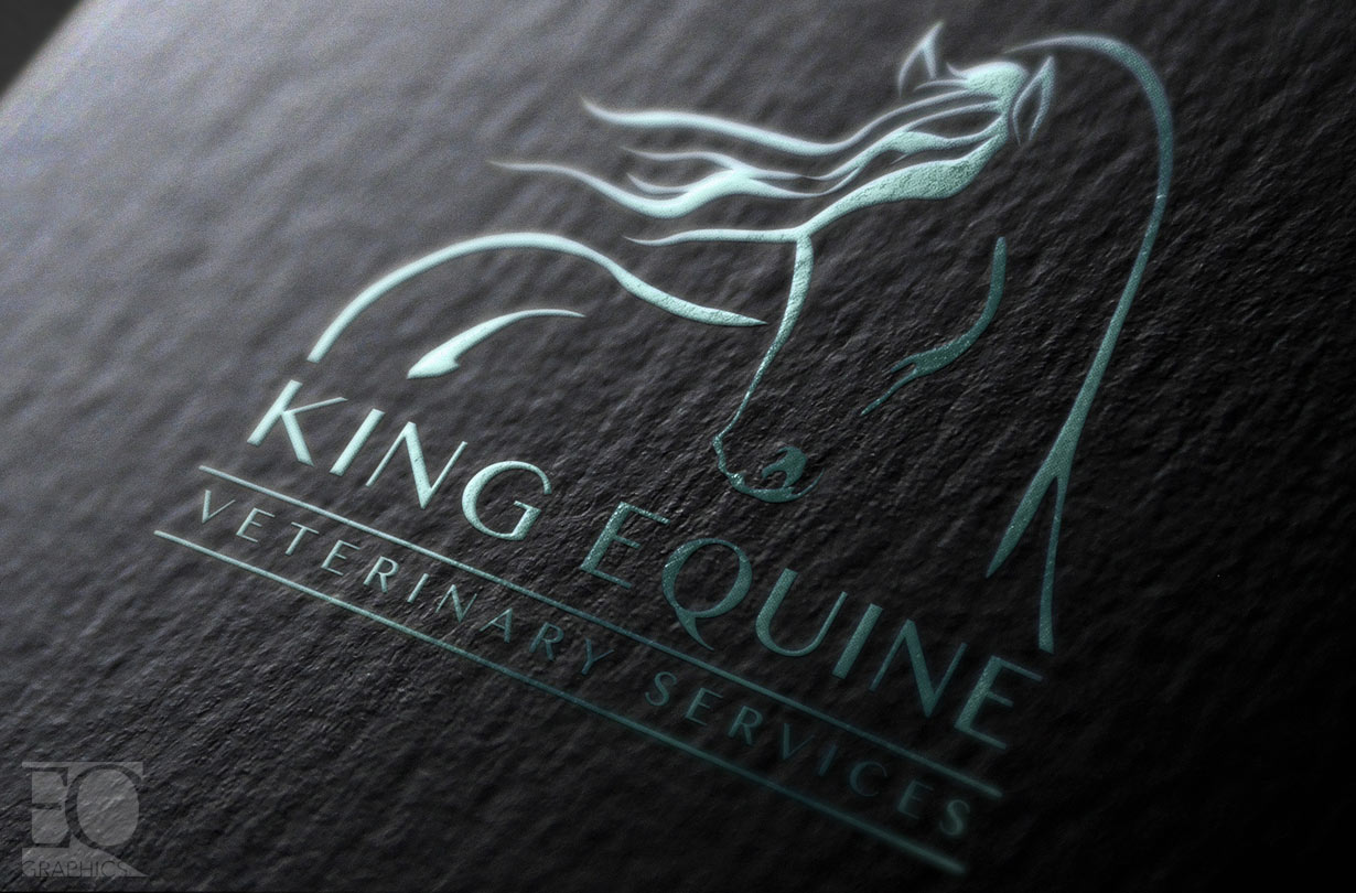 King Equine Veterinary Services Canada Horse Logo By Eq Graphics Canadian Veterinarian Logos Eqgraphics Custom Equine Web Design And Horse Logo Design