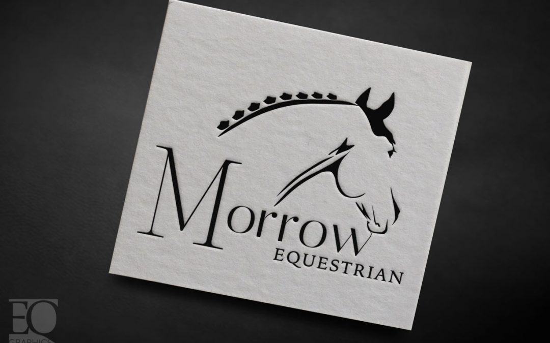 Morrow Equestrian Estate LaQuinta California Custom Equine Logo Design by Eq Graphics