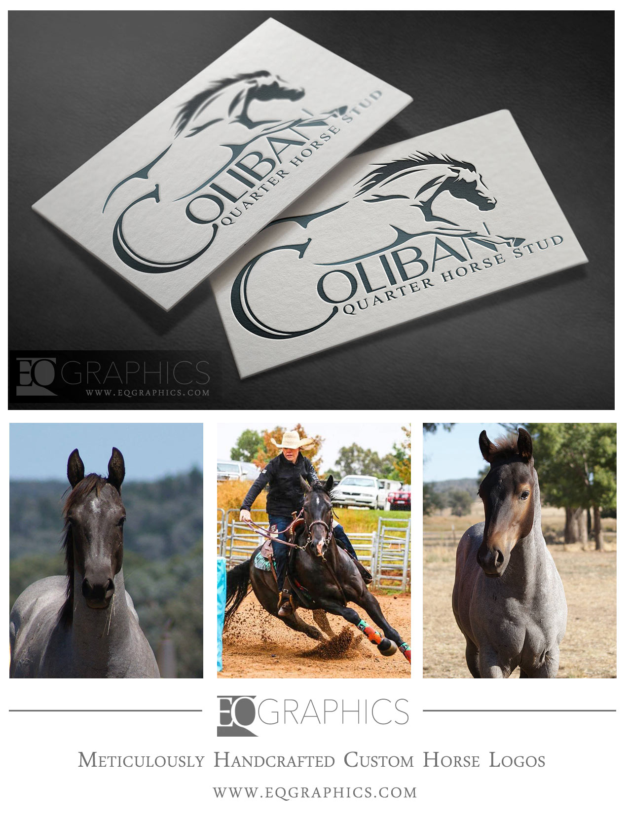 Coliban Stud Custom Quarter Horse Logo by EQ Graphics Equine Designer