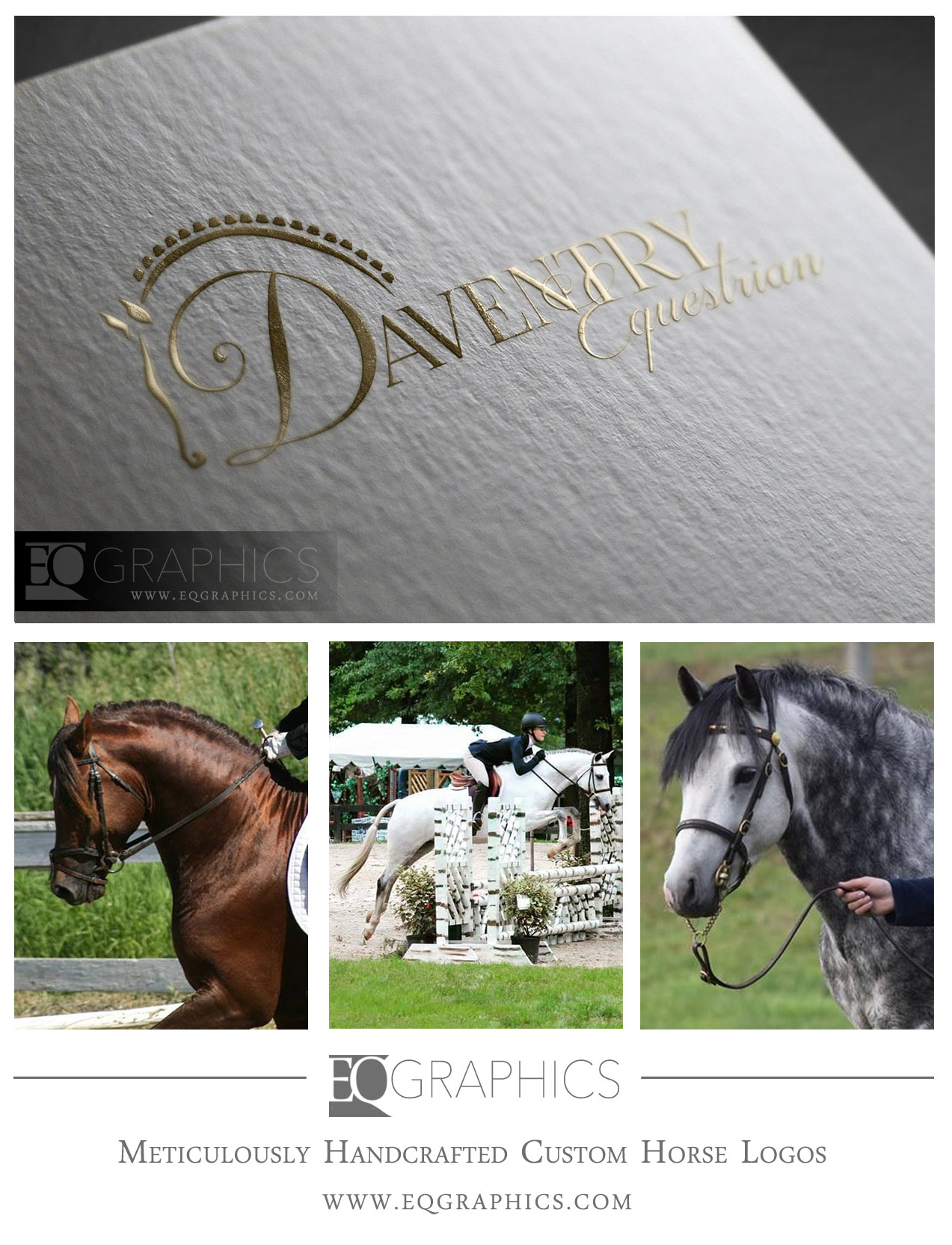 Daventry Handcrafted Farm Logo by EQ Graphics Equestrian Design