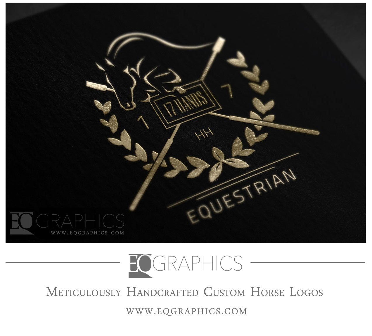 17HH Equestrian Custom Jumper Logo by Showjumping Horse Logo Designer EQ Graphics