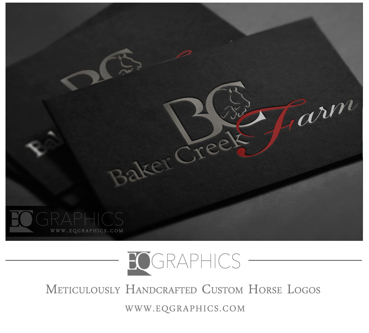 Baker Creek Farm Logo Design by EQ Graphics Horse Logos for Jumping Farms