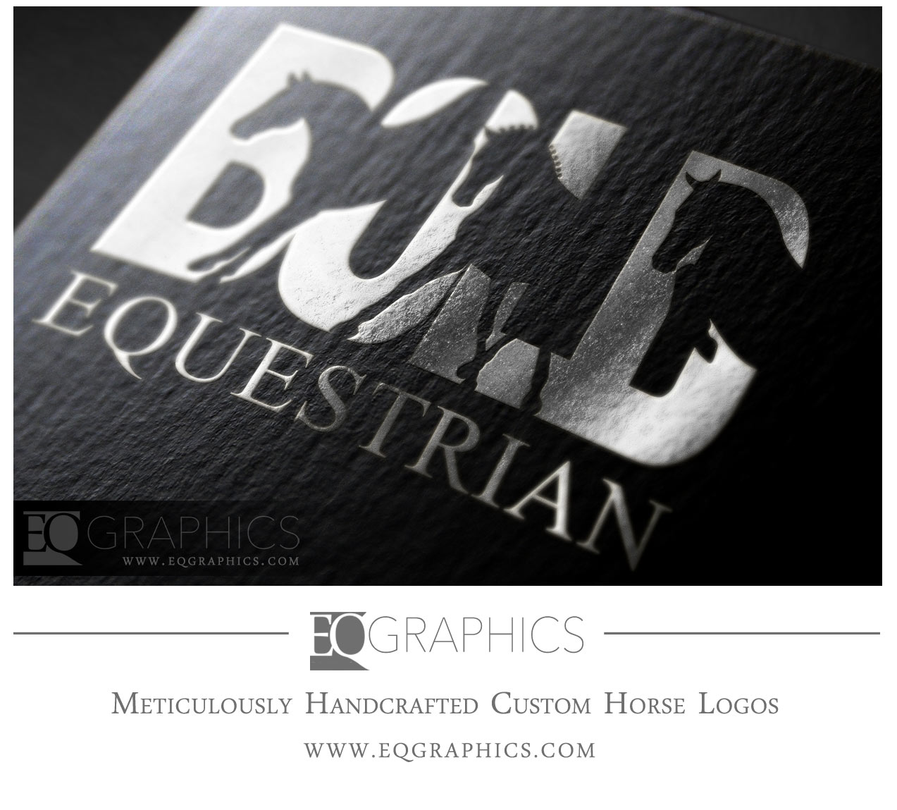 Bold Equestrian Jumping Eventing Horse Logo by EQ Graphics Equine Logos