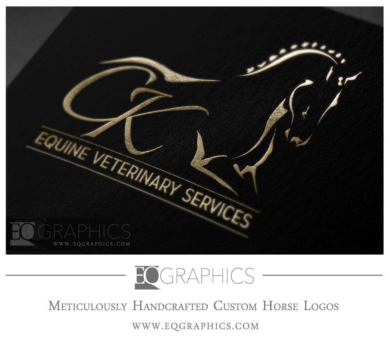 CK Equine Veterinary Services Wellington FL Logo Design by EQ Graphics Horse Veterinarian Logos