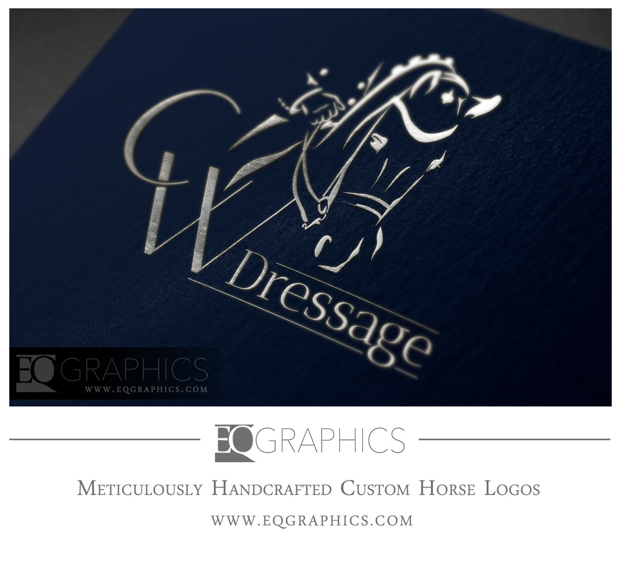 CW Dressage Logo Design by EQ Graphics Equine Logos