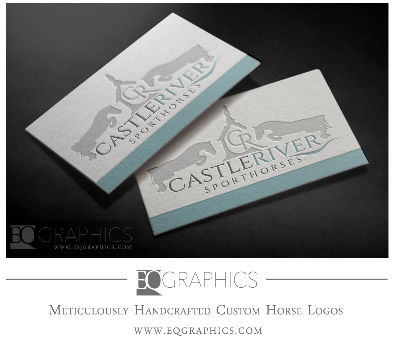 Castle River Sporthorses Show Jumping Logo by EQ Graphics Horse Logo Design