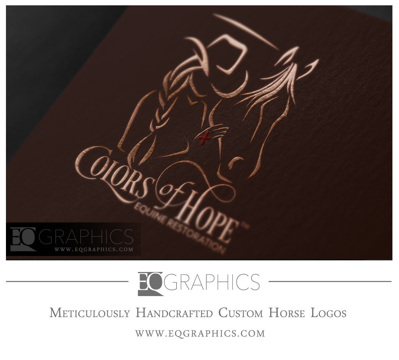Colors of Hope Cowgirl Horse Person Ranch Logo Design by EQ Graphics Equine Logos