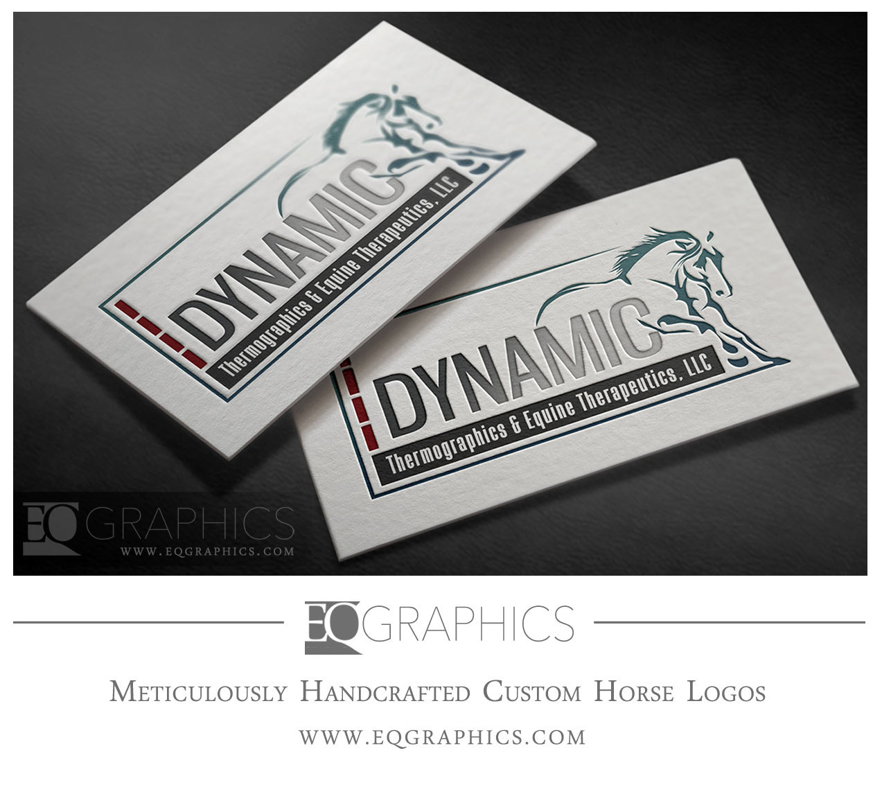 Dynamic Equine Therapeutics Logo Veterinary Rehab Design by EQ Graphics