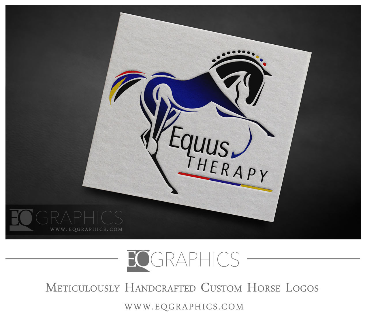 Equus Therapy Veterinary Rehabilitation Logo Design by EQ Graphics Horse Logos