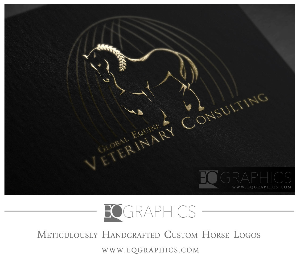 Global Equine Veterinary Consulting Logo Design by EQ Graphics