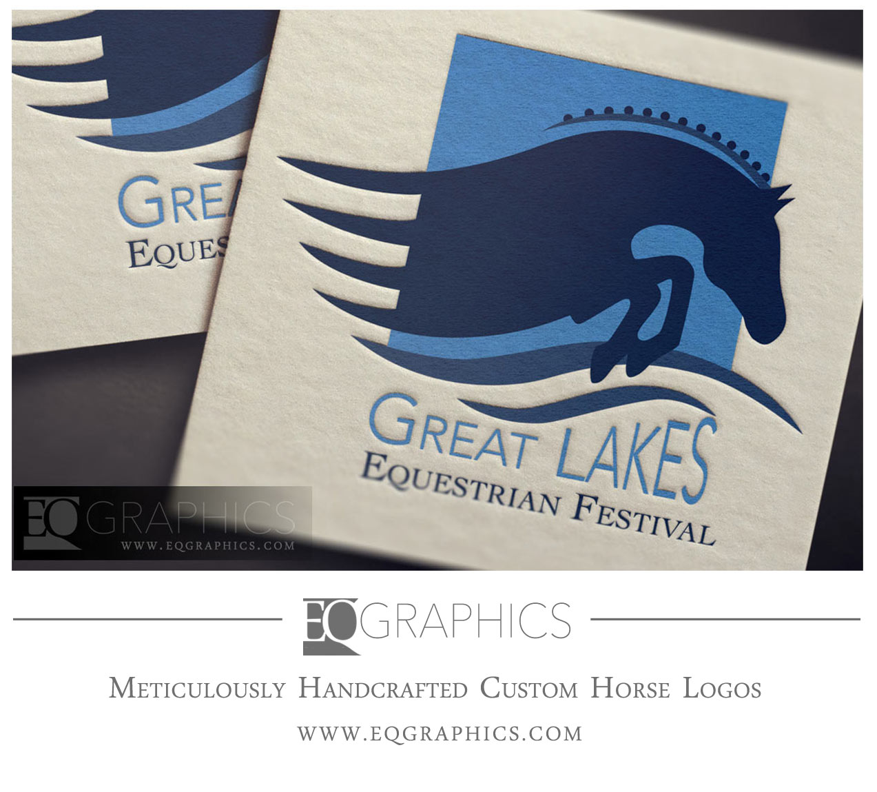 Jumping Horse Logo Design Custom Hunter Jumper Horse