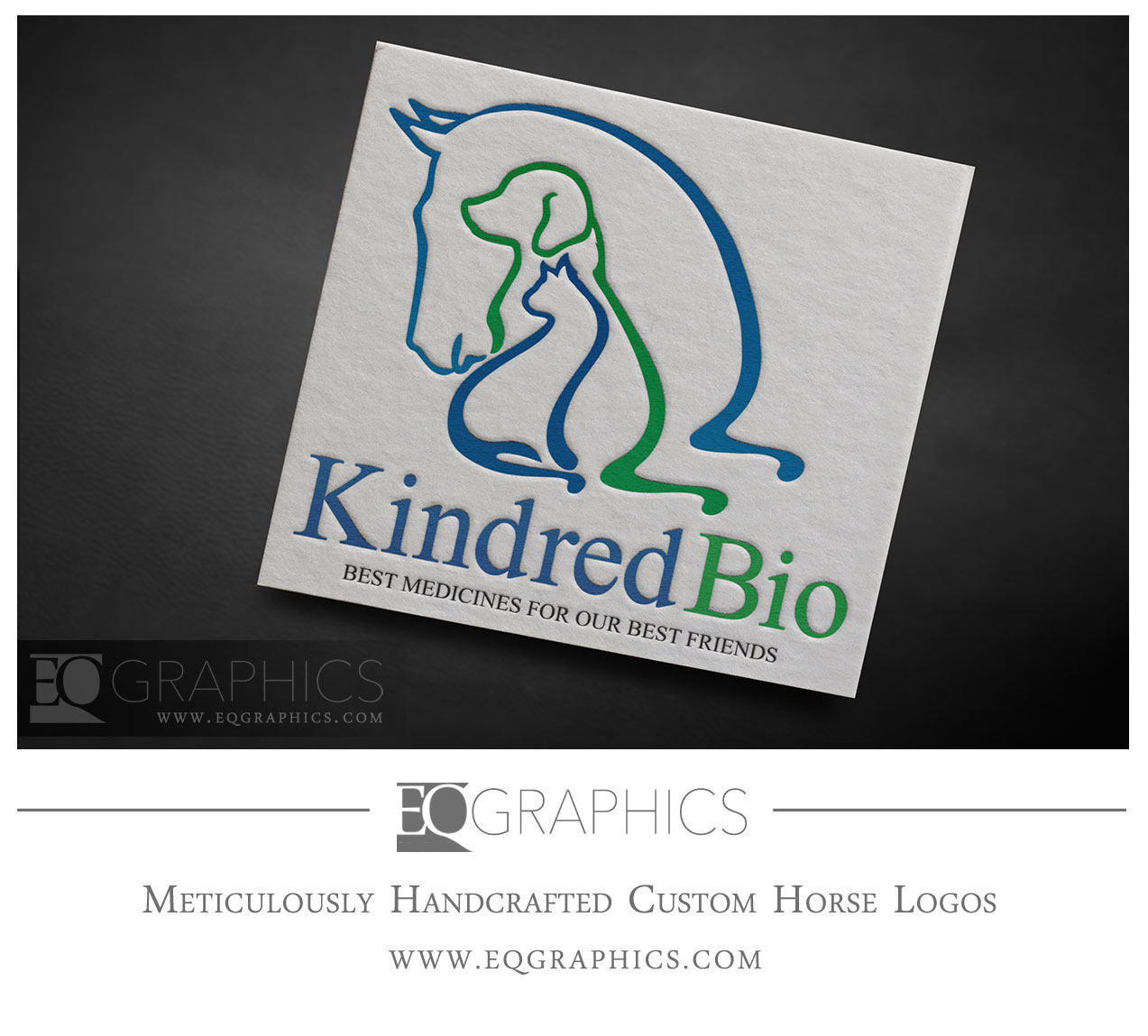 Kindred Bio Veterinary Medicine Logo by EQ Graphics Equine Medical Logos