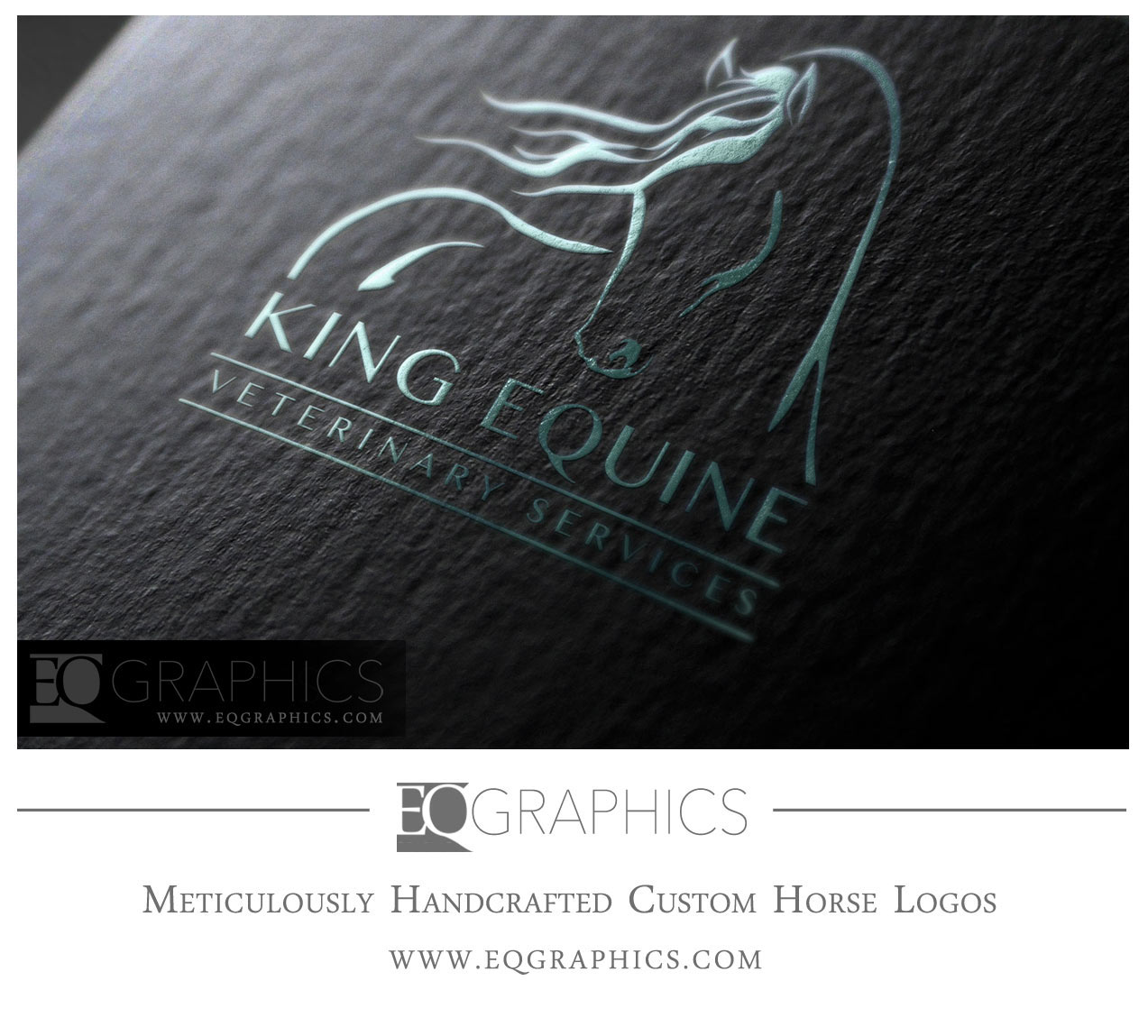 King Equine Veterinary Services Logo Design by EQ Graphics Horse Veterinarian Logos