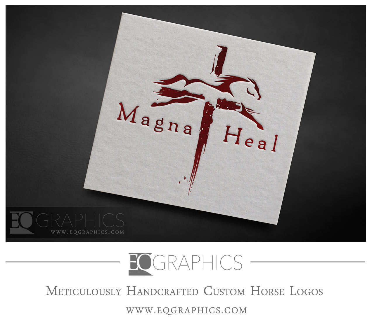 Magna Heal Equine Therapy Logo Horse Christian Cross Equine Logo by EQ Graphics
