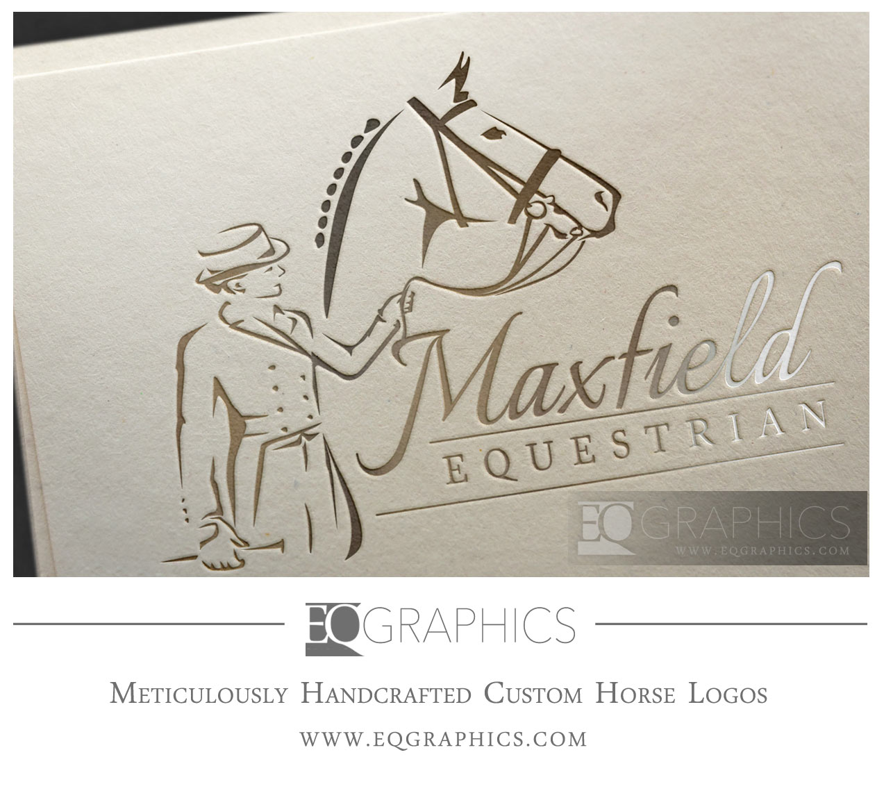 Maxfield Equestrian Dressage Rider Shadbelly Logo by EQ Graphics Equine Designer Logos