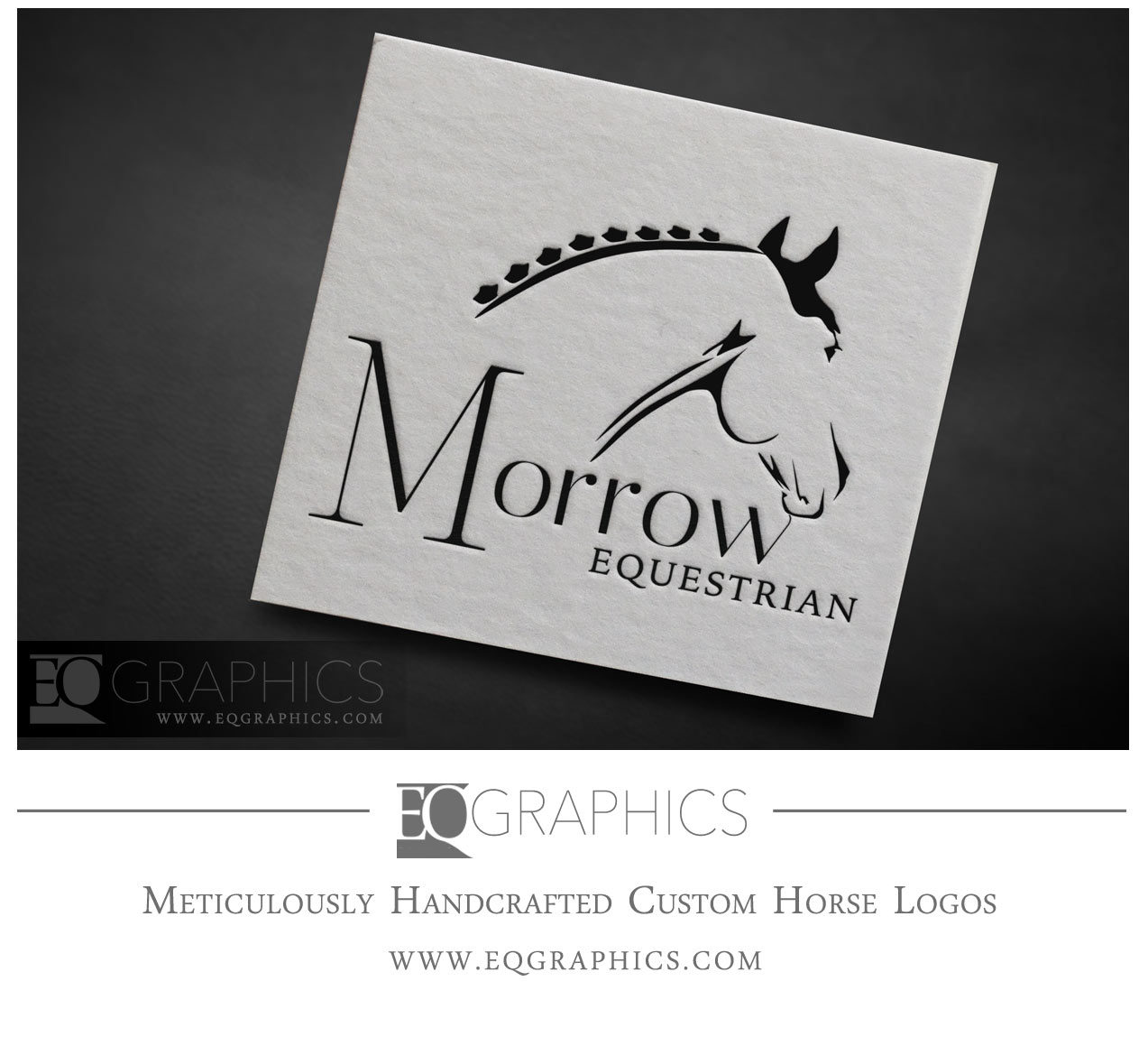 Morrow Equestrian Logo Warmblood Hunter Jumper California HITS Thermal Facility by EQ Graphics