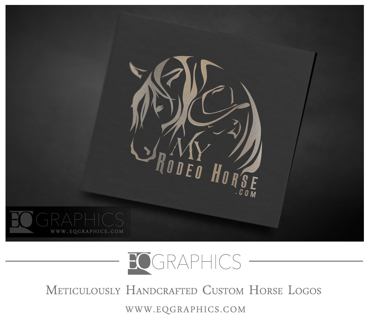 My Rodeo Horse Cowboy Logo by EQ Graphics Western Ranch Designer Logos