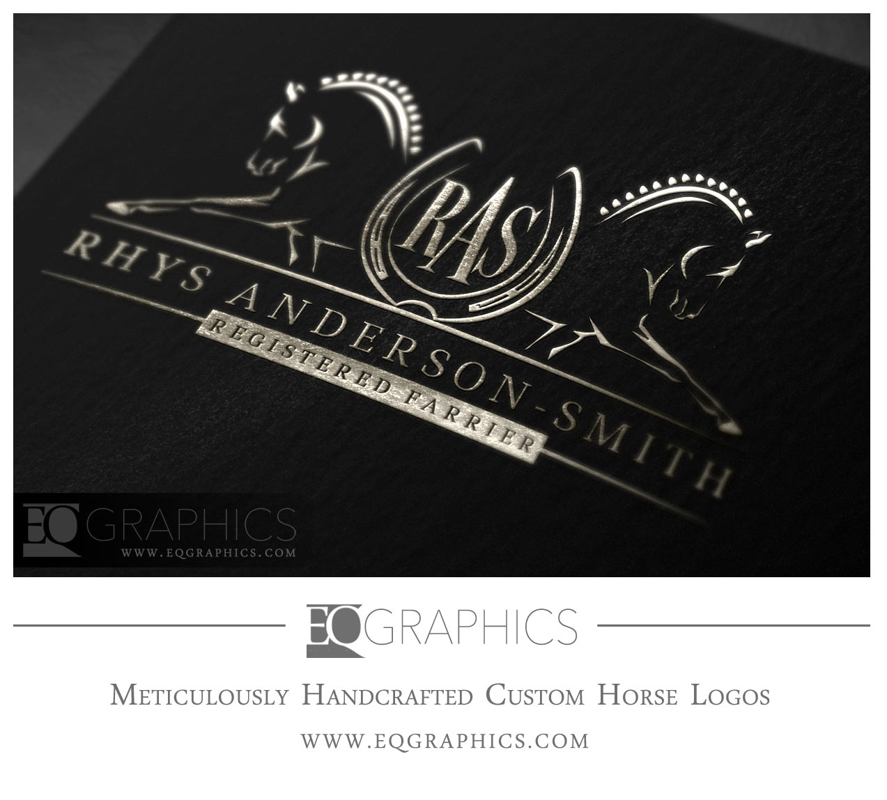 Rhys Anderson Smith Farrier Logo Design by EQ Graphics Horse Logos