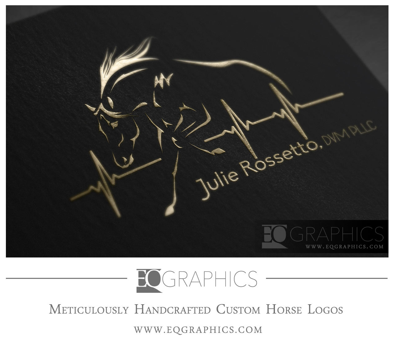 Rossetto Veterinarian Horse Logo Design by EQ Graphics Equine Logos