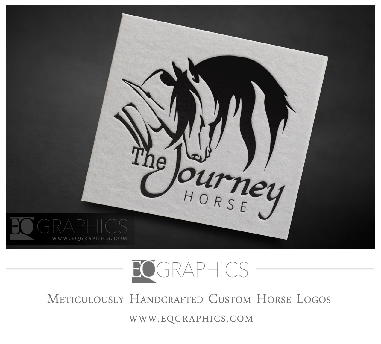 The Journey Horse Friesian Logo Design by EQ Graphics Equine Logos