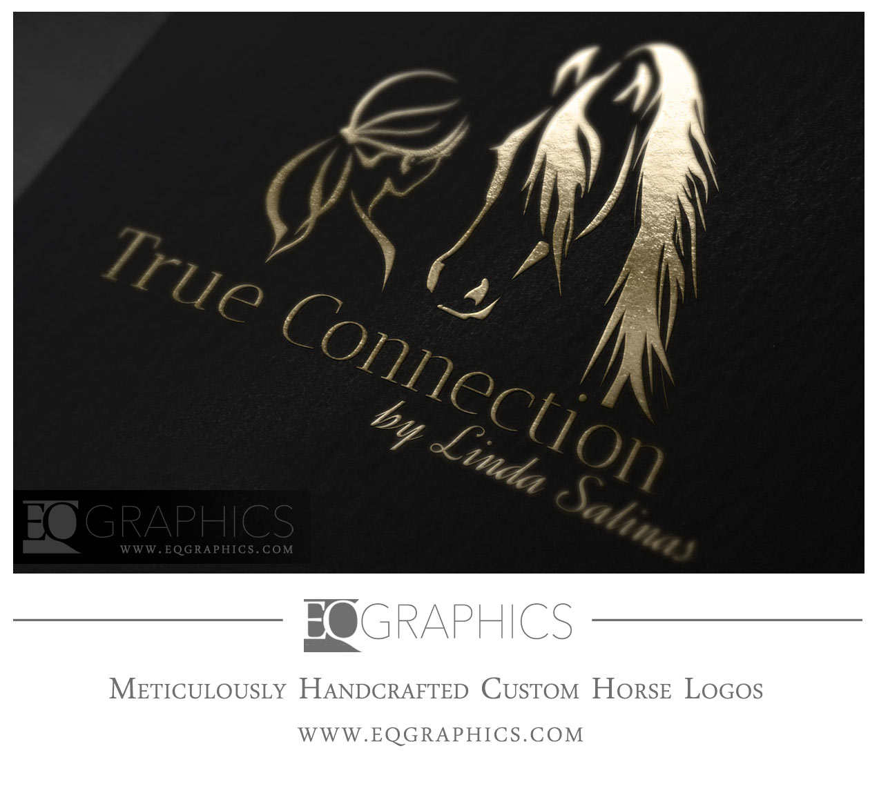 True Connection Horse Person Logo Design by EQ Graphics Designer Horsemanship Logos