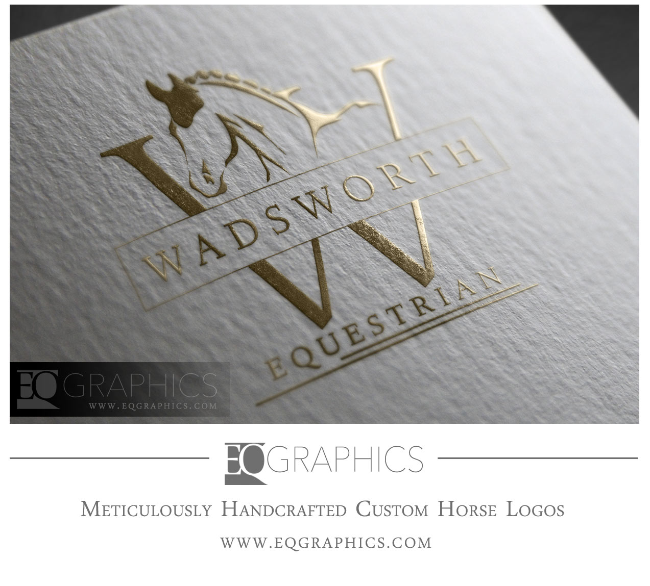 Wadsworth Equestrian Logo Design Warmblood Sporthorse Showjumping Logo Design by EQ Graphics Jumping Horse Logos